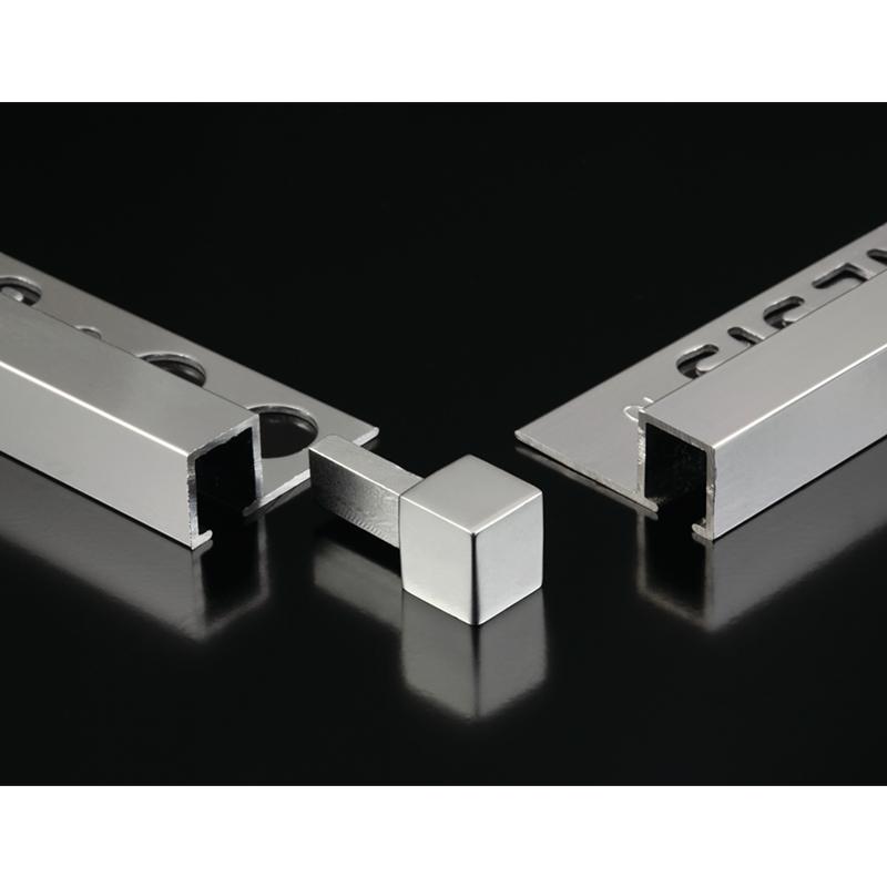 Genesis 2 5m 5 Pack Polished Silver Square Edge Tile Trim