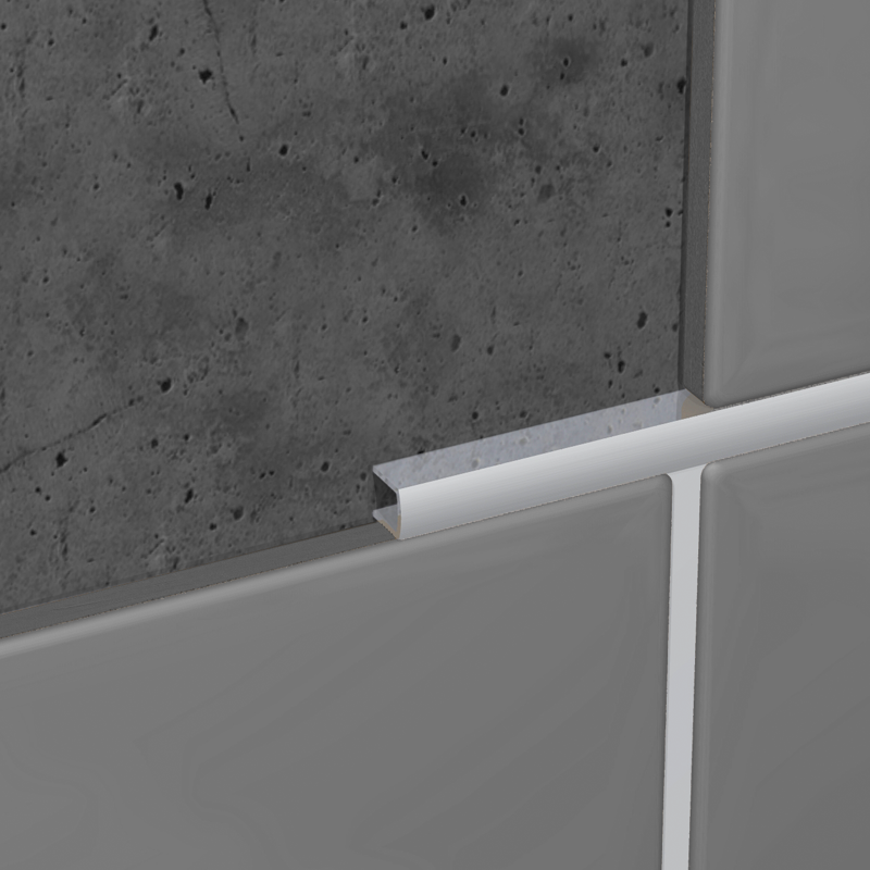 genesis tile trim polished chrome flat aluminium listello. Black Bedroom Furniture Sets. Home Design Ideas
