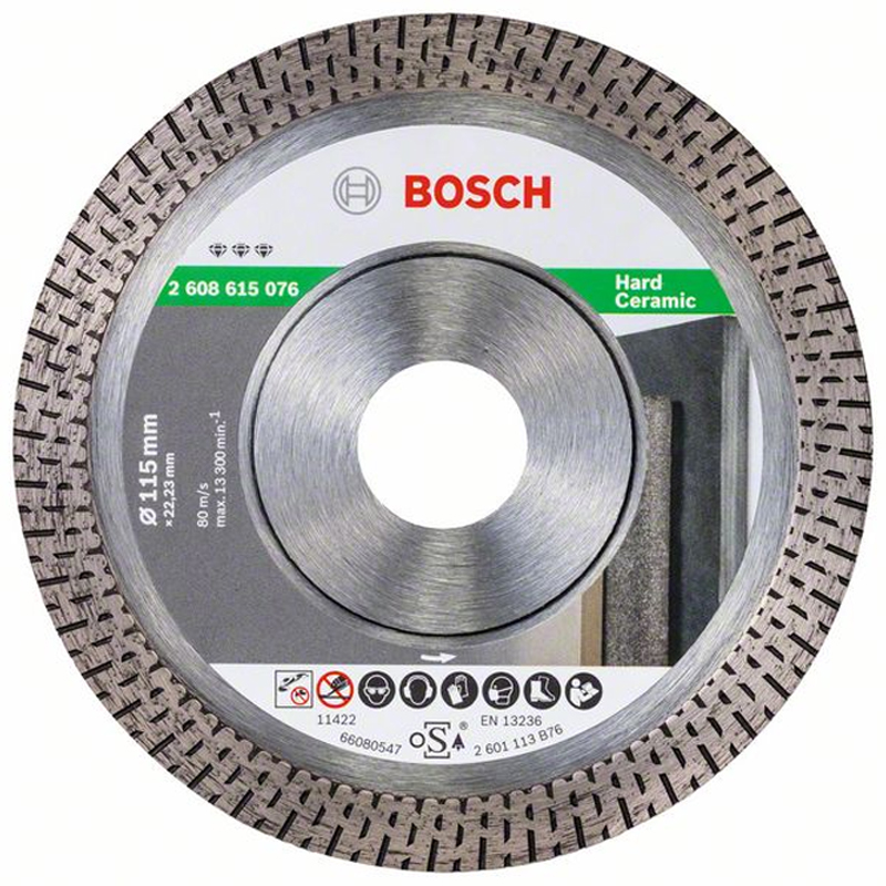 Bosch Dry & Clean Cut Diamond Angle Grinder Blade 115mm 2608615076 For Porcelain