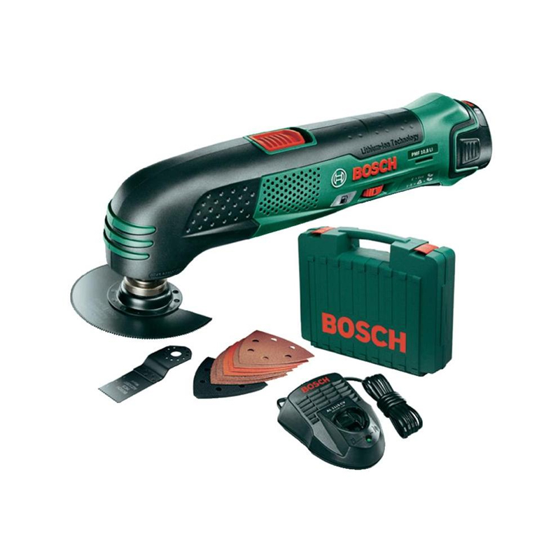 bosch pmf 10 8 li cordless multi tool with 8 accessories carry case 1675 buy cordless