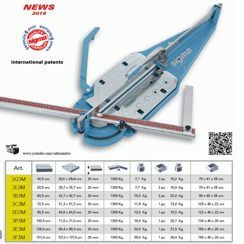 Sigma 3c3m Max Professional Tile Cutter 72cm New Model Ebay