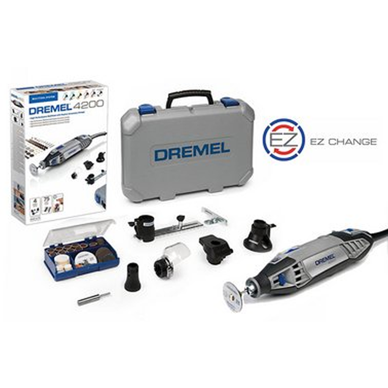new dremel 4200 4 75 rotary multi tools 240v in case 75 acc multitool 1986 buy corded power. Black Bedroom Furniture Sets. Home Design Ideas