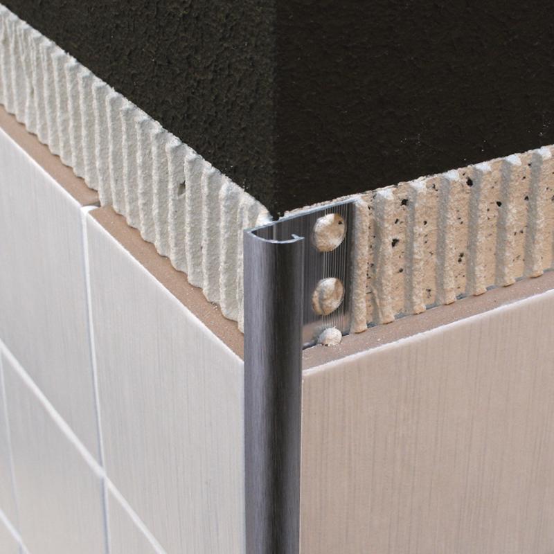 genesis brushed chrome round edge tile trim eaq 8mm 12mm. Black Bedroom Furniture Sets. Home Design Ideas