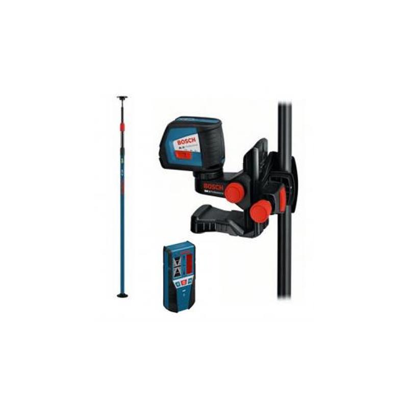 new bosch gll 2 50 bm1 lr2 bt350 professional cross line laser set buy cordless power. Black Bedroom Furniture Sets. Home Design Ideas