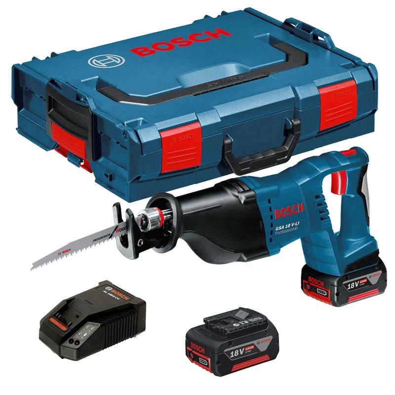 Ah 2 Sabre: Bosch GSA 18 V-Li Cordless Reciprocating/Sabre Saw 2 X 5