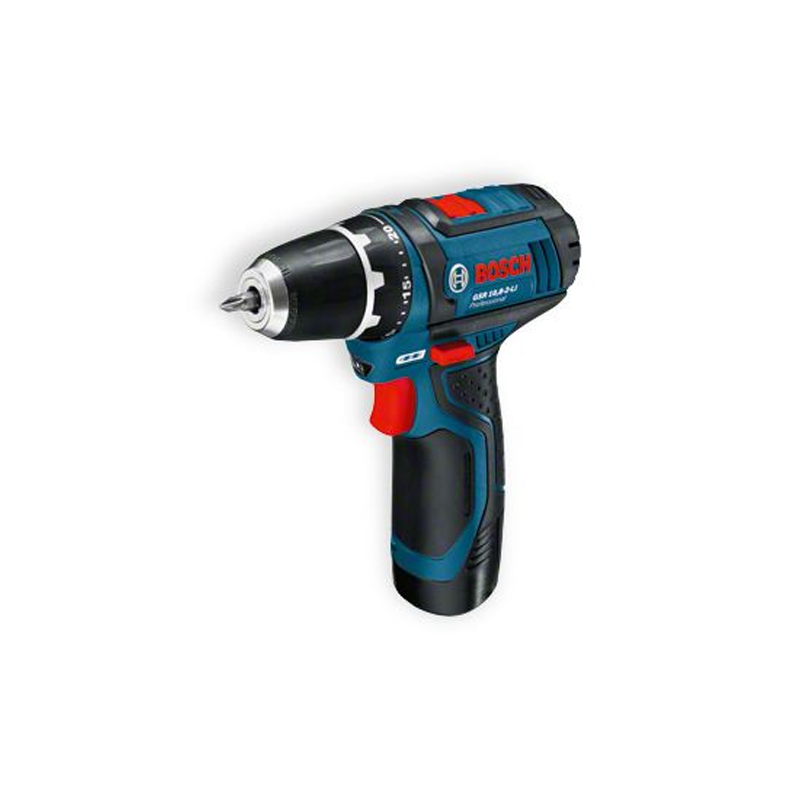 bosch gsr 10 8 2 li 2x2ah cordless drill driver 3 jaw. Black Bedroom Furniture Sets. Home Design Ideas