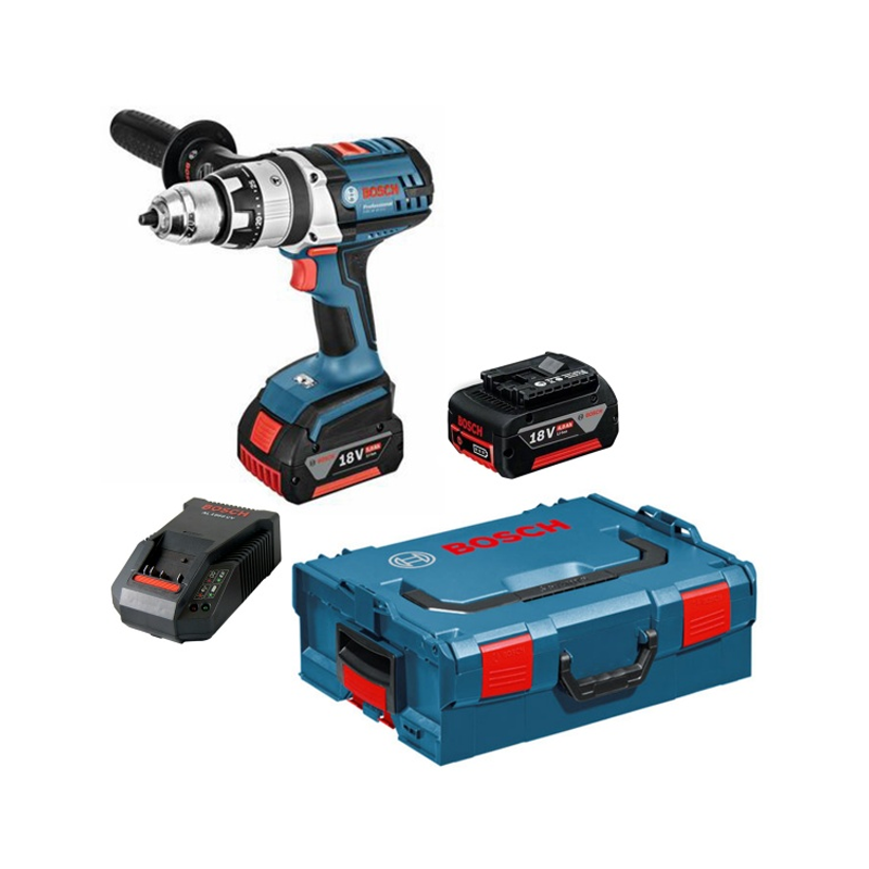 bosch gsr 18 ve 2 li robust drill driver 2 x batts l. Black Bedroom Furniture Sets. Home Design Ideas