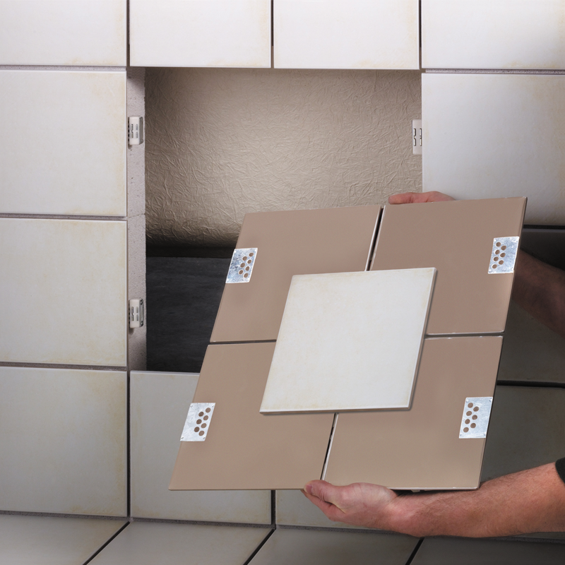 Pro Tiler 4 Piece Hidden Magnetic Tile Access Panel System