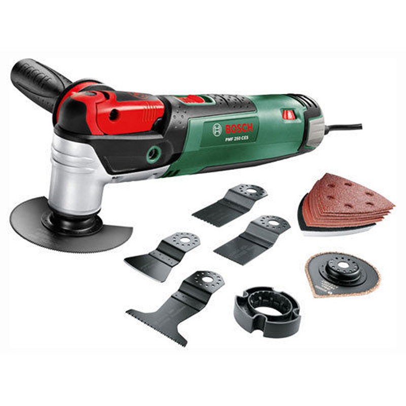 new bosch pmf 250 ces multitool with accessories in carry. Black Bedroom Furniture Sets. Home Design Ideas