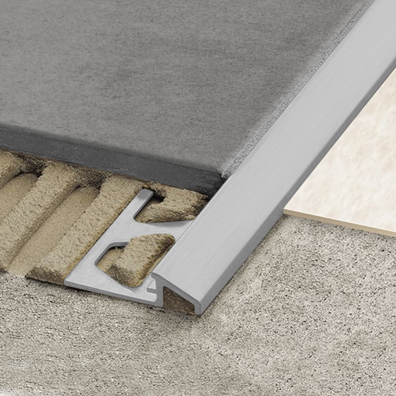 Schluter reno aeu flooring transition ramp anodised for 10mm floor tile spacers