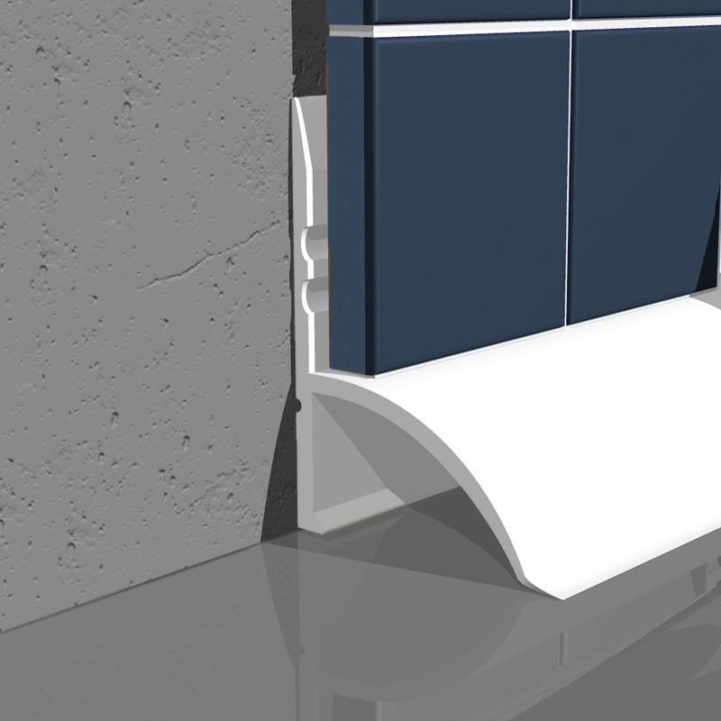 genesis white under over tile bath seal sbs sps buy. Black Bedroom Furniture Sets. Home Design Ideas