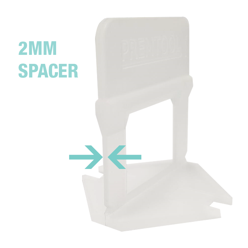 Premtool Tile Levelling System Short Clip 2mm Spacer X100