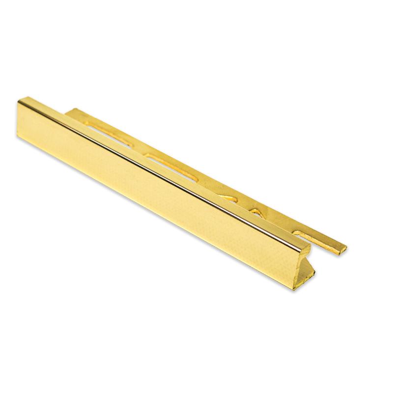 Sol Gold Straight Edge 24k Gold Tile Trim 11mm 2 5m Length
