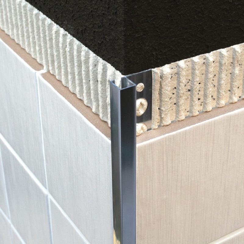 dural chrome plated brass square edge tile trim dpm. Black Bedroom Furniture Sets. Home Design Ideas