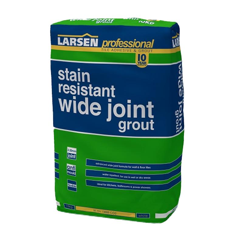 Larsen Wide Joint Flexible Floor Grout Grey Buy Tile Adhesive